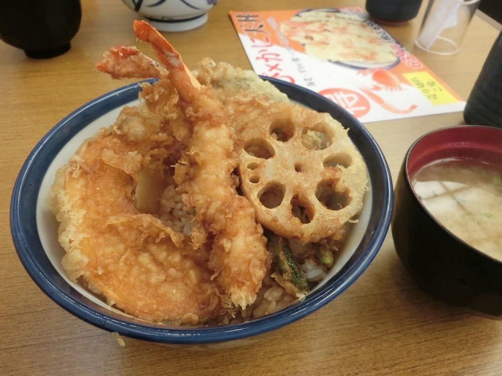 天丼 (tendon), rice bowl with anything fried and delicious!