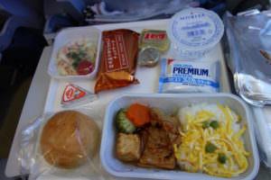 フィンエアーの機内食、チキン