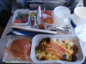 フィンランド航空機内食の夕食