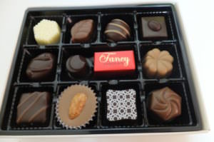 Chocolate box of a famous inexpensive chocolate brand, Mary's chocolate