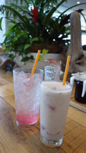 Sakura theme drinks at Eggs 'n Things