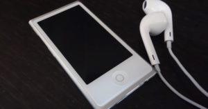 ipod nanoとイヤホン