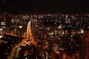 View from Tokyo Tower. Roads look like an X!