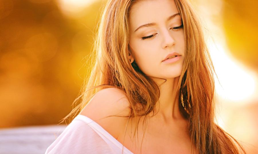 外国の美人モデルは髪の毛も美しい