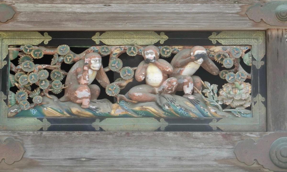 Monkeys at Nikko World Heritage Site, Japan
