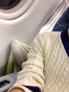 飛行機内でのトラブル