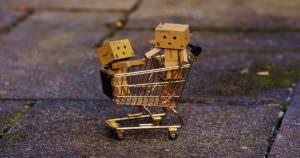 Amazon's mascot Danbo the cardboad box loves web shopping
