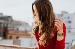 綺麗な巻き髪