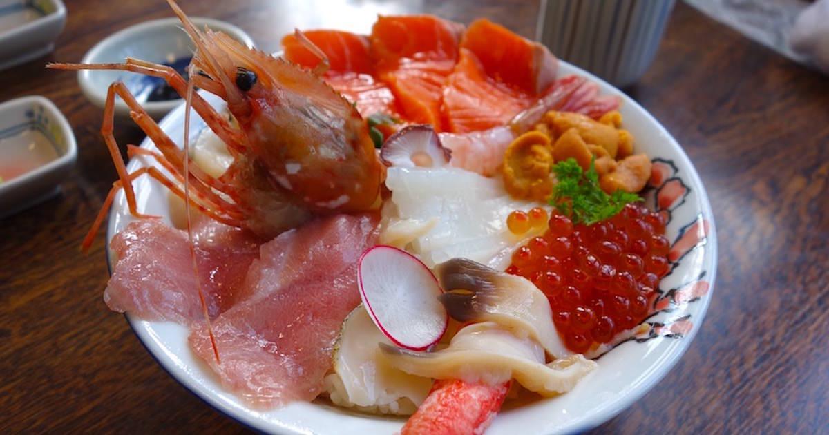 北海道のおいしい海鮮丼