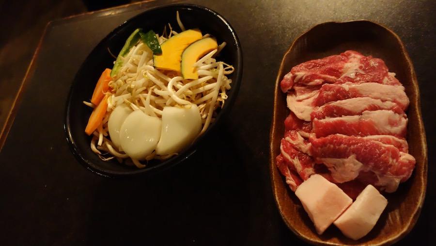 キリンビール園の美味しいラム肉と新鮮野菜