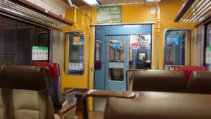 新千歳空港から札幌へ向かう電車の中