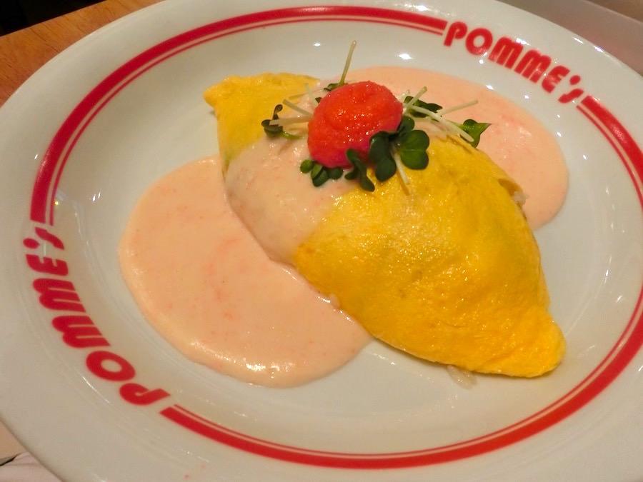 ポムの樹の美味しいたらこクリームオムライス