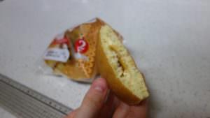 裏技で切った菓子パンのキレイな切り口