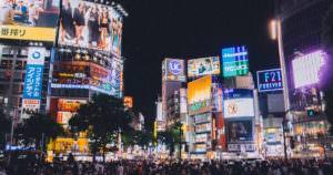 Shibuya crossing in Japan