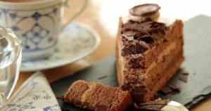 ティータイムのチョコレートケーキ