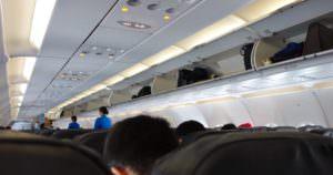 航空機内の座席